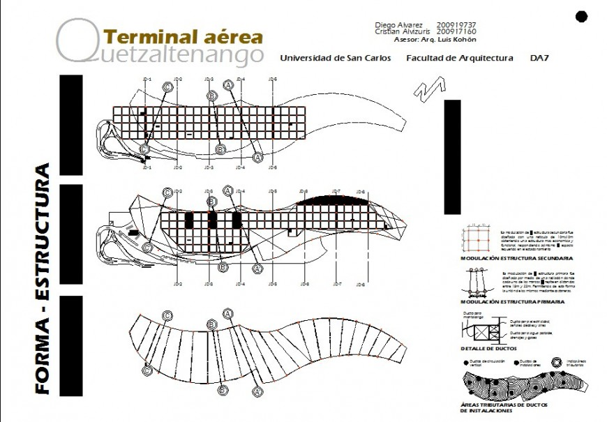 Airport top view construction layout details model