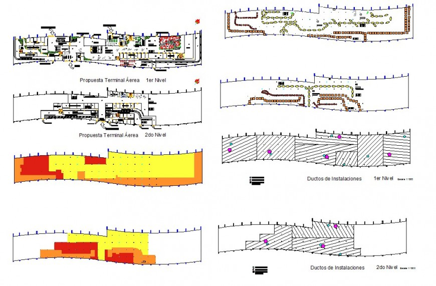 Airport top view construction plan detail