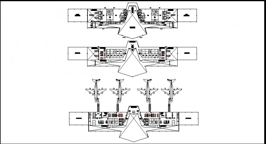 Airport top view layout plan
