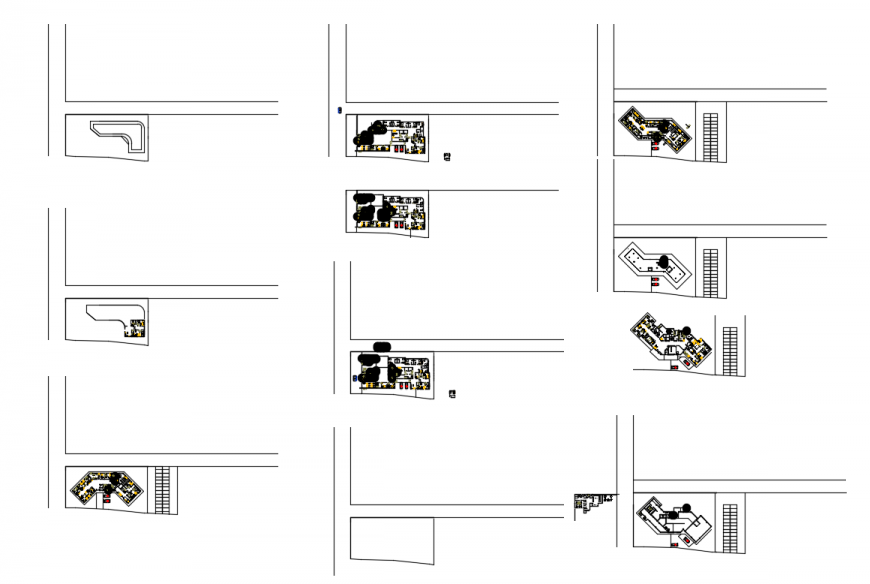 All floor plan layout details of multi-specialist hospital cad drawing details dwg file
