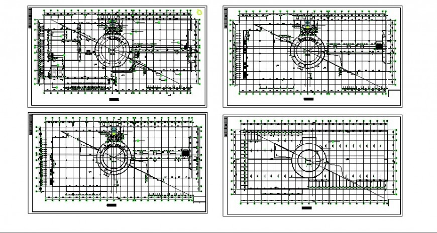 All floors framing plan structure drawing details of luxuries hotel building dwg file