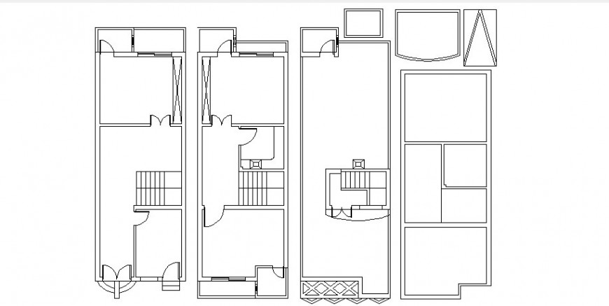 All floors of house general cover plan cad drawing details dwg file