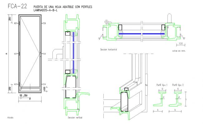 Door detail plan frameless glass door details google for Sliding glass doors autocad