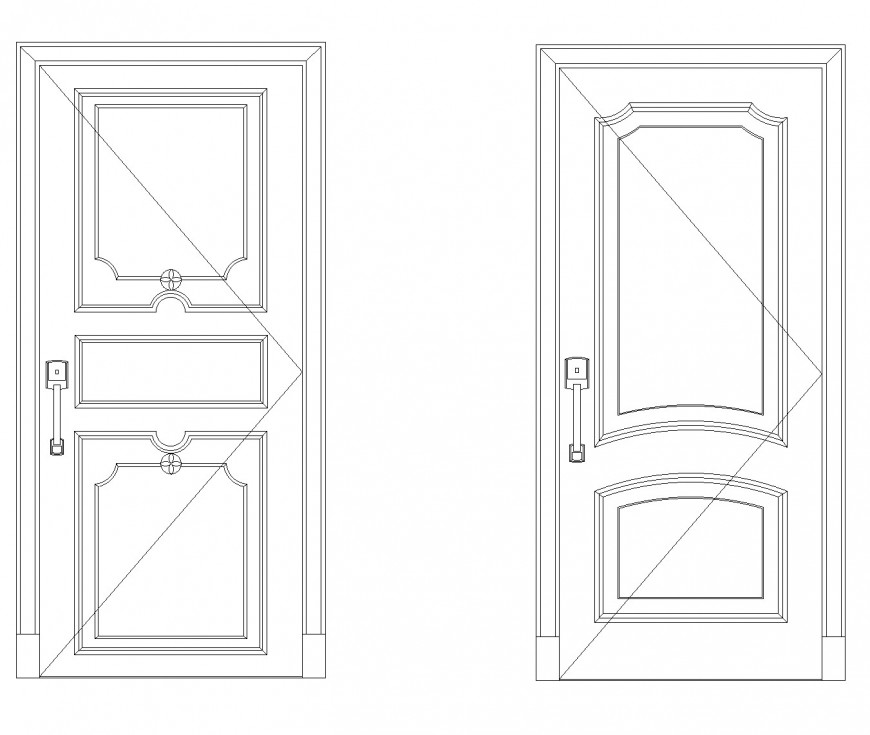 Aluminium door CAD blocks autocad file