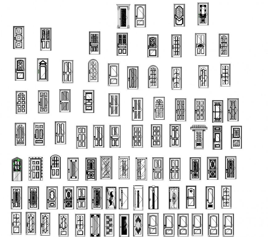 Aluminum door CAD blocks autocad file