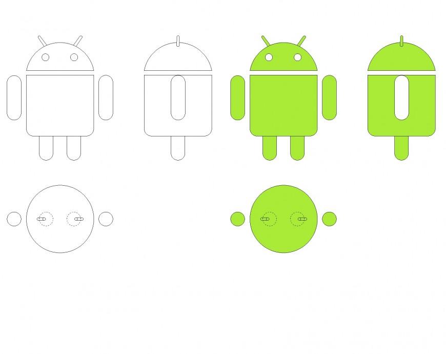 Android logo plan layout file