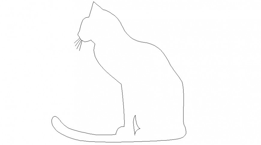 Animal blocks of cat drawings 2d view autocad software file