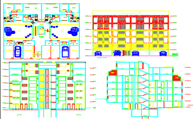 apartment building dwg file