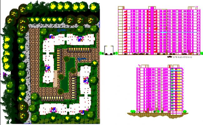 apartment layout plan dwg file,