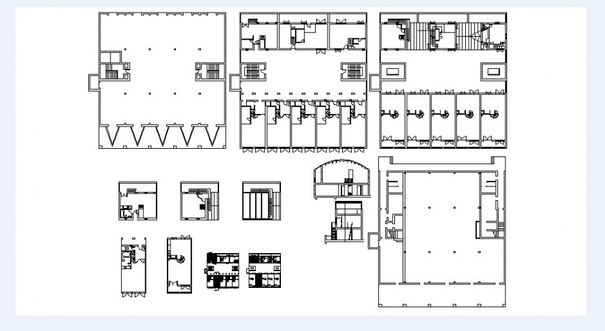 Apartment building floors framing plan structure drawing details dwg file
