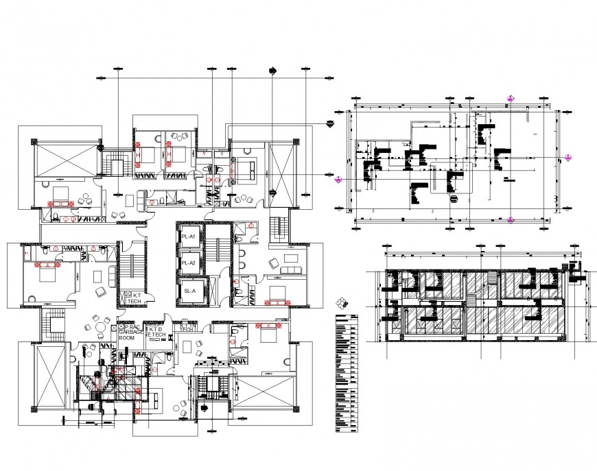 Apartment flat planning autocad file