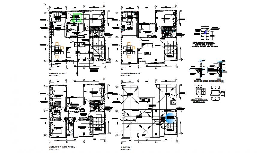 Apartment floor plan drawing in dwg file.