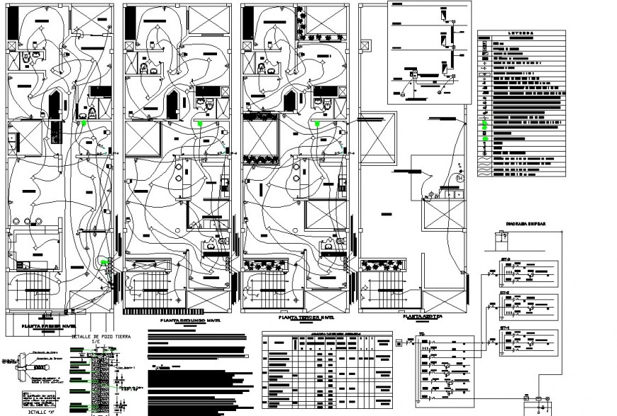 Apartment floor plan electric drawing in dwg file.