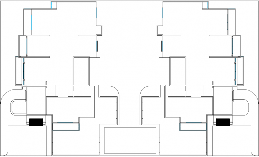 Apartment plan detail dwg file.