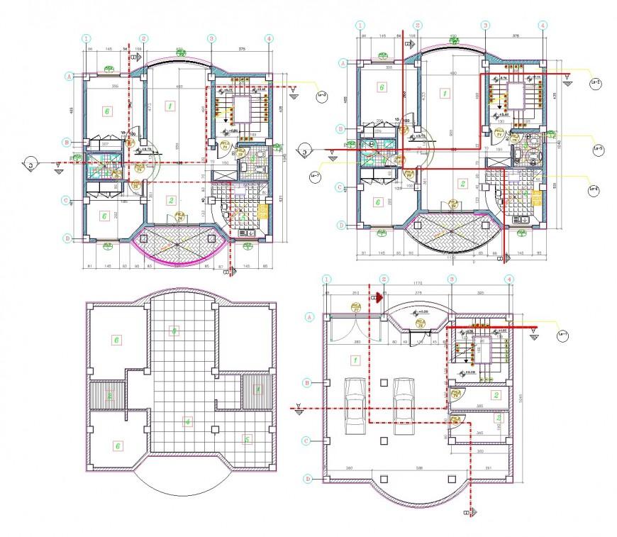 Apartment plan detail dwg file