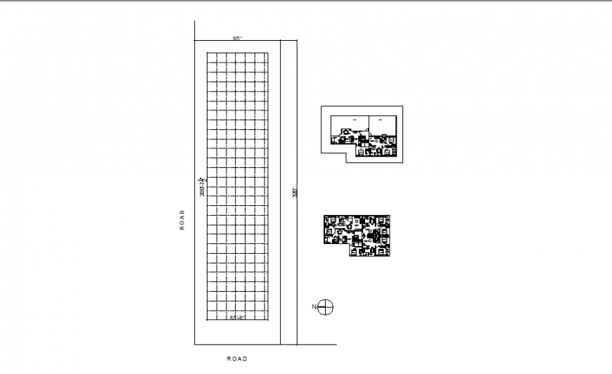 Apartment plan drawing and plot grid plan in dwg file.