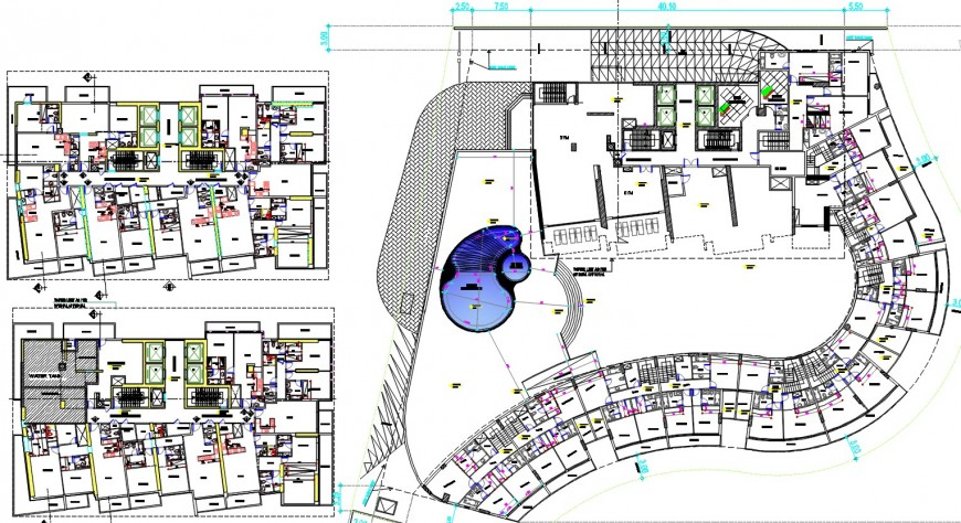 apartment residence project detail cad file