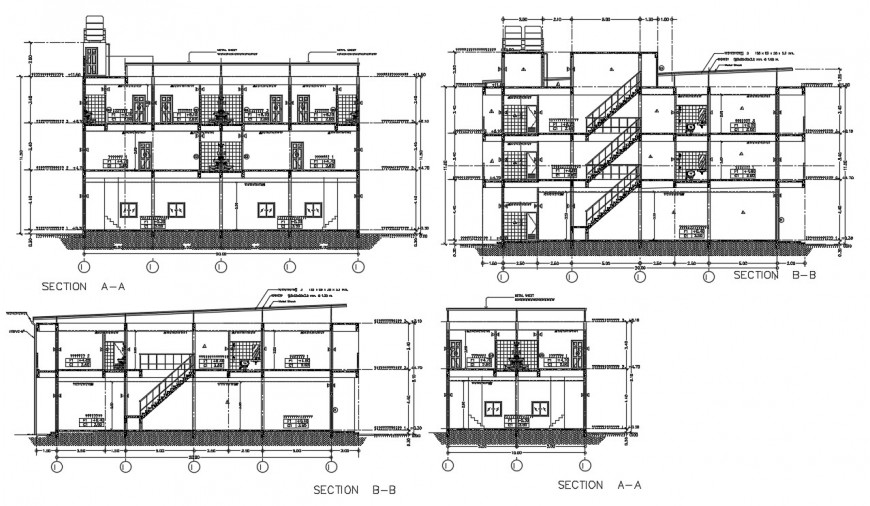 Arch apartment design section plan autocad software