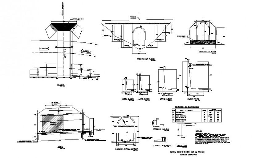 Arch shape door elevation detail dwg file