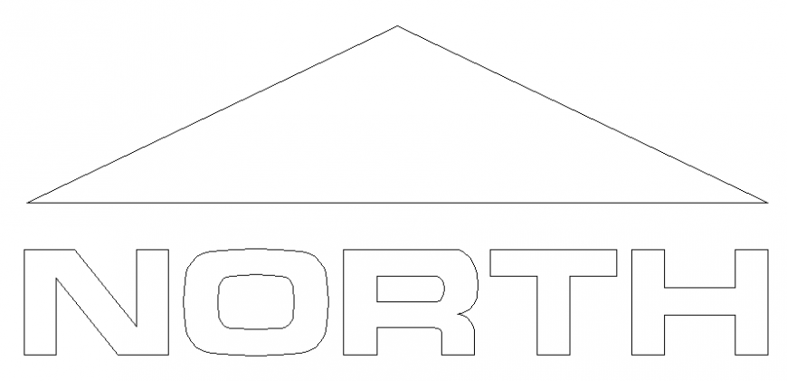 Architect north direction 2 d plan layout file