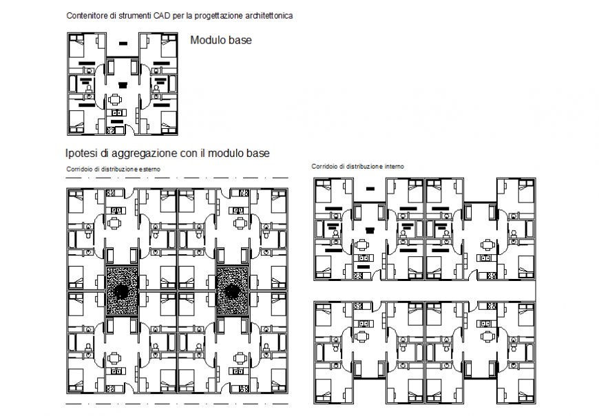 Architect school hostel planning layout file