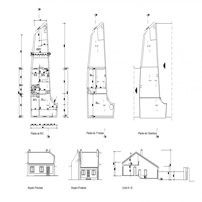 Architectonic project house plan autoacd file