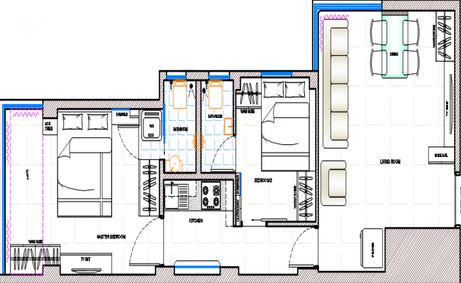 architectural design of a house dwg file