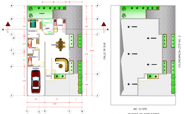 architectural plan dwg file