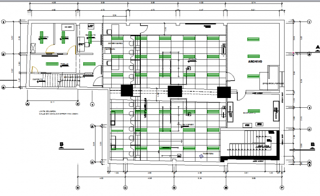 Architectural Plan Of Bank Dwg File