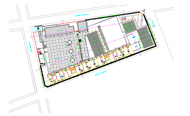 architectural plan of college  dwg file