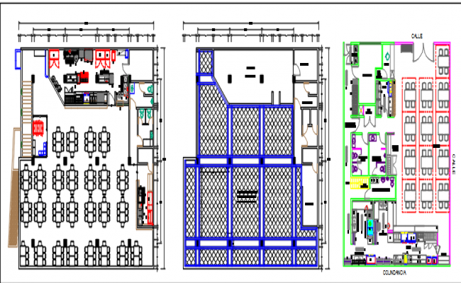 architectural plant and seafood restaurant dwg file