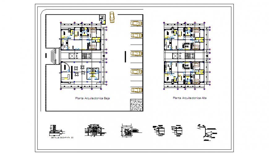 Architectural based  proposed layout plan design of house design drawing