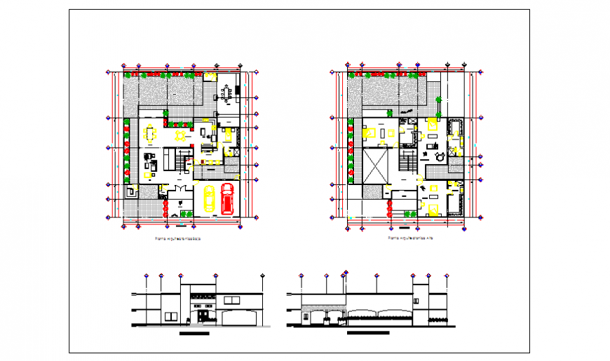 Architectural based house design drawing