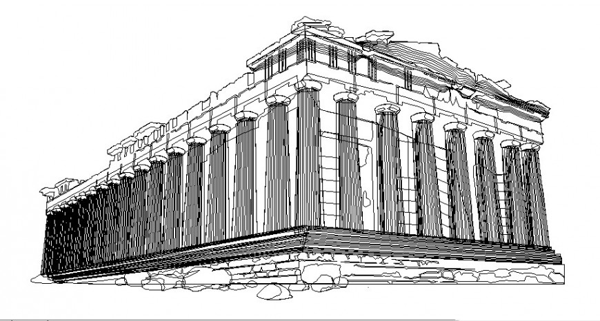 Architectural building blocks detail 3d model autocad file