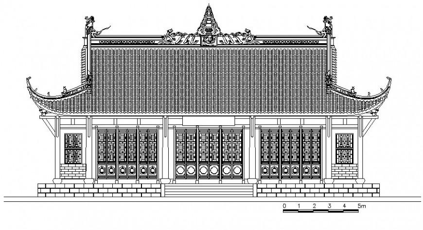 Architectural building units detail design 2d view in AutoCAD