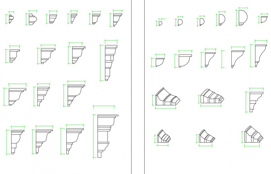 Architectural CAD strip detail dwg file