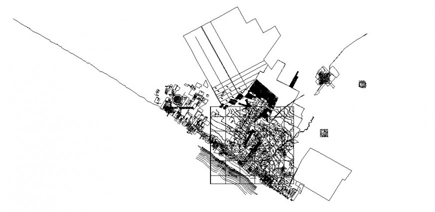 Architectural city plan drawing in dwg AutoCAD file.
