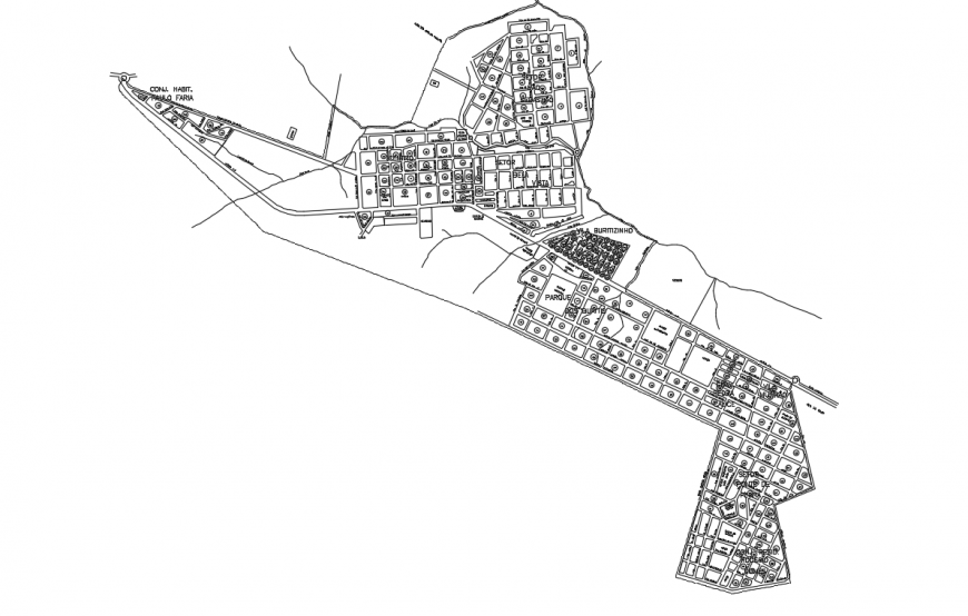 Architectural city Planing Lay-out design in DWG File
