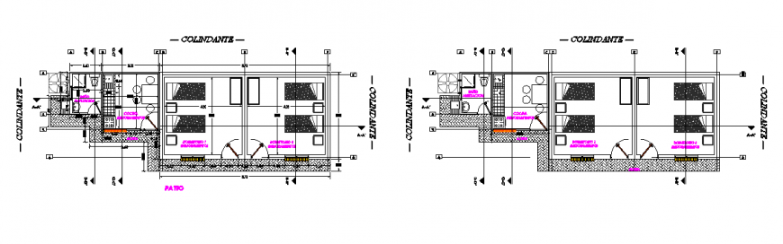 Architectural design of Social housing design drawing