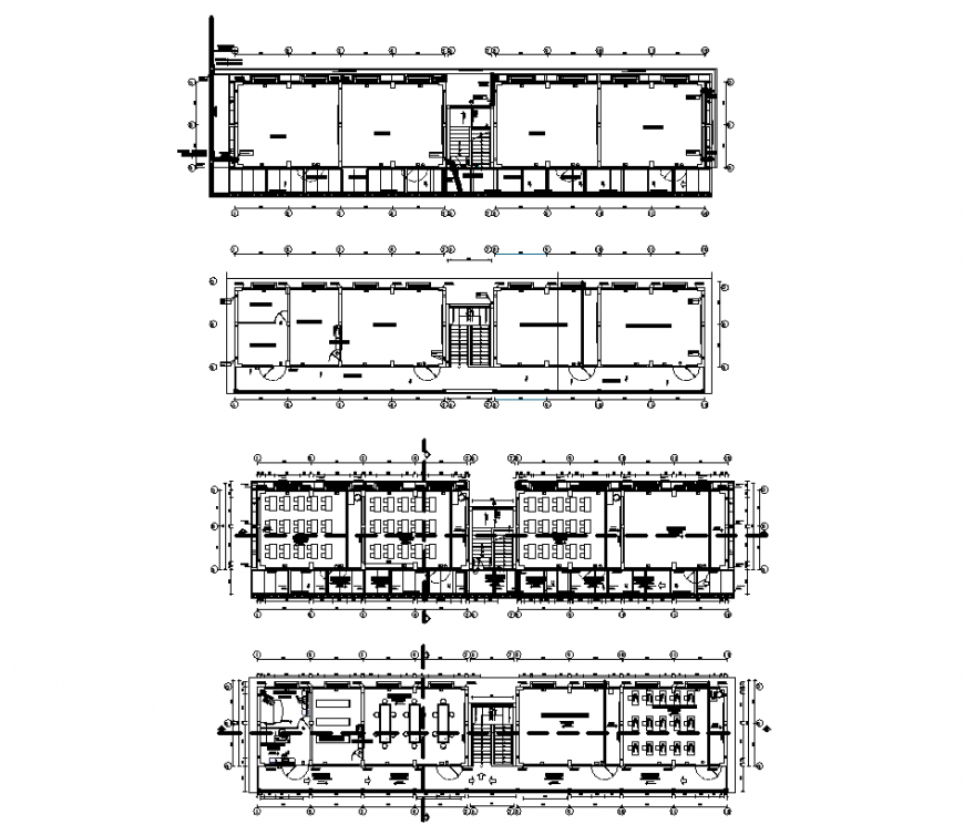 Architectural detail of house design dwg file