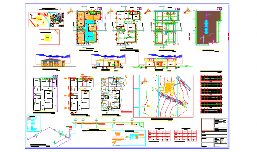 Architectural drawing plans of health hospital design drawing