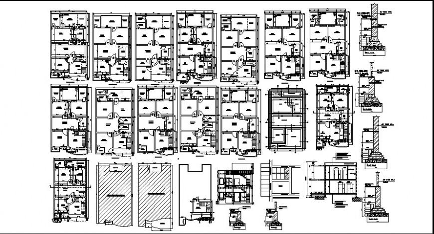 Architectural furniture detail plan model