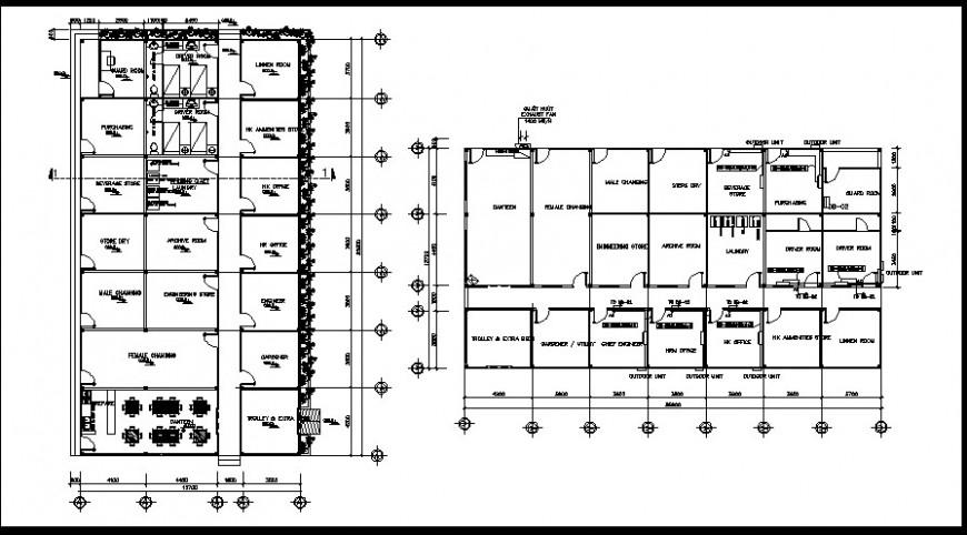 Architectural furniture detail plan of resort