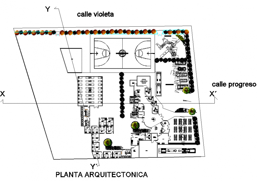 Architectural housing and building detail elevation layout 2d view dwg file