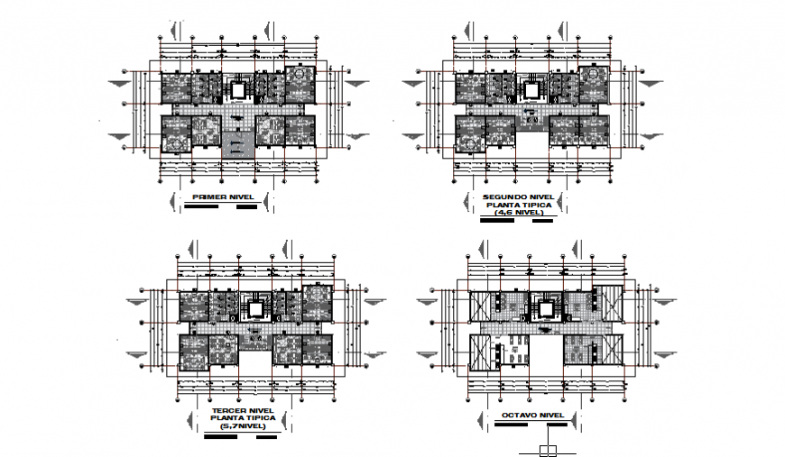 Architectural layout design drawing of University residence house design drawing