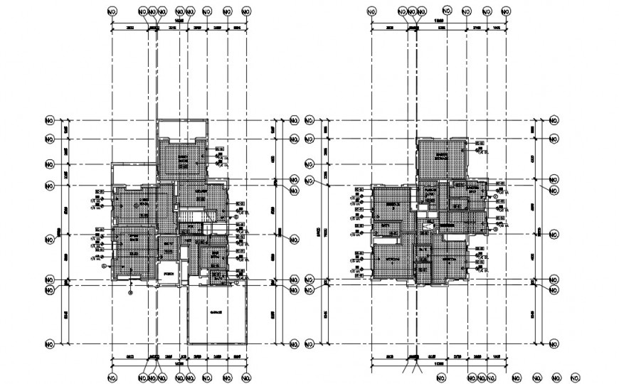 Architectural layout plan detailing top view dwg file