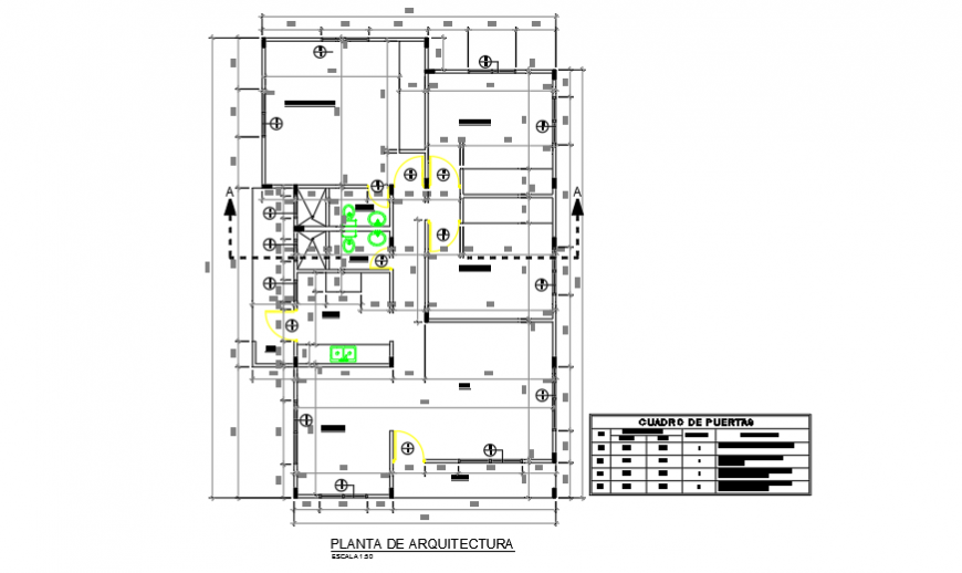 Architectural layout planning of preliminary housing design drawing