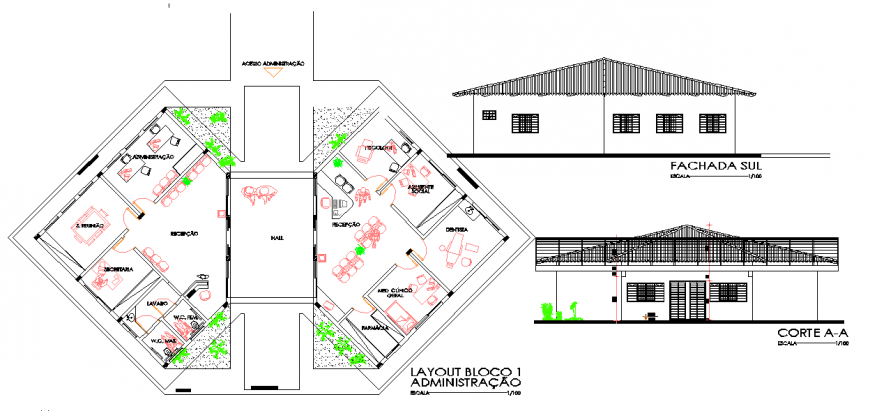 Architectural Official Plan Detail