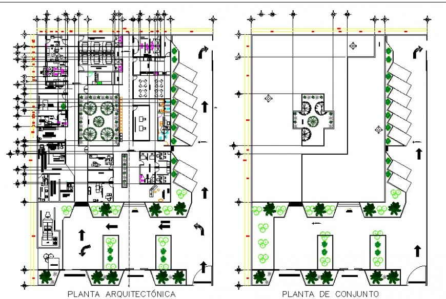 Architectural plan and garden layout