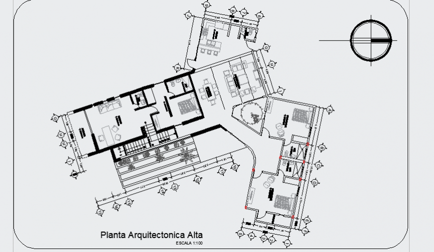 Architectural plan design drawing of modern house design